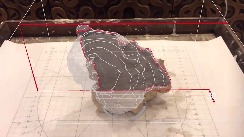 AR-guided Clay Modelling