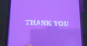 Purple Thank You Book