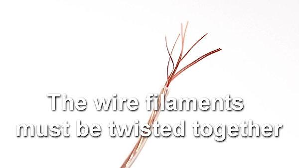 Preparing speaker wire
