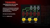 CSD Toshiba VRF confirmation of set up _720p