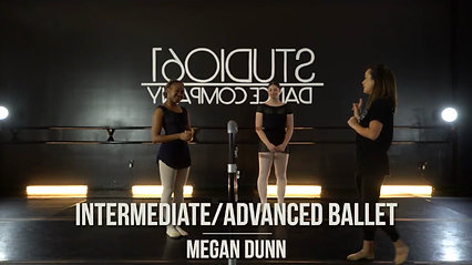 INTERMEDIATE/ADVANCED BALLET WITH MEGAN