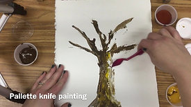 Palette knife tree