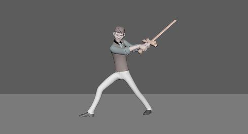 Amateur Sword Fighter