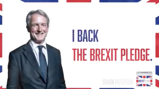 Owen Paterson signs Brexit Pledge