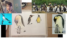 Painting pinguins