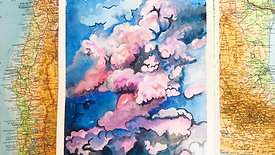 Watercolour Painting - Clouds
