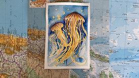 watercolour - jellyfish