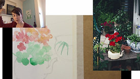 Painting flowers and plants in watercolours