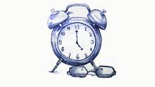 Drawing a clock in pen