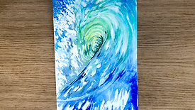 Painting a wave in Watercolours