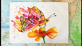 watercolour Painting - Butterfly