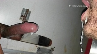 Preview - Gloryhole uncut cock shoots huge load of cum