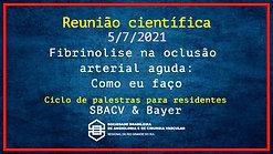 Ciclo de Palestras SBACV & Bayer - Fibrinolise na oclusão arterial aguda: Como eu faço - 050721