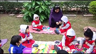Picnic Time in School Grounds