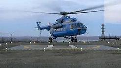 Взлет Ми-8 с ВП Supa-Trac (г.Мончагорск)