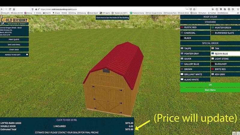 Old Hickory 3D Custom Shed Builder Demo