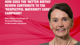 How does the 'Better Births' review contribute to the 'Respectful Maternity Care' Campaign? - Professor Mary Nolan (Ep.02)