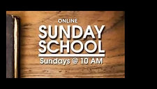 SUNDAY SCHOOL 6-28-20