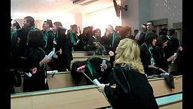 Moment amuzant la Festivitatea de încheiere a studiilor de licență - Facultatea de Management, Specializarea IEA (P33, 10 mai 2011)
