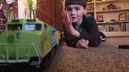 A Boy and his Train