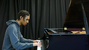 Bach's Gigue from French Suite performed by Joshua Ruddock (2020)