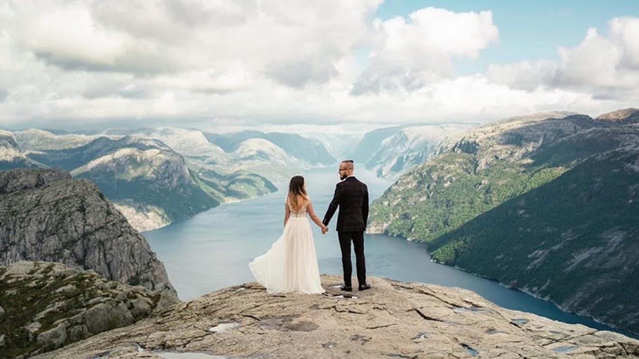 Ewelina i Adrian. Trailer. Preikestolen, Norwegia.