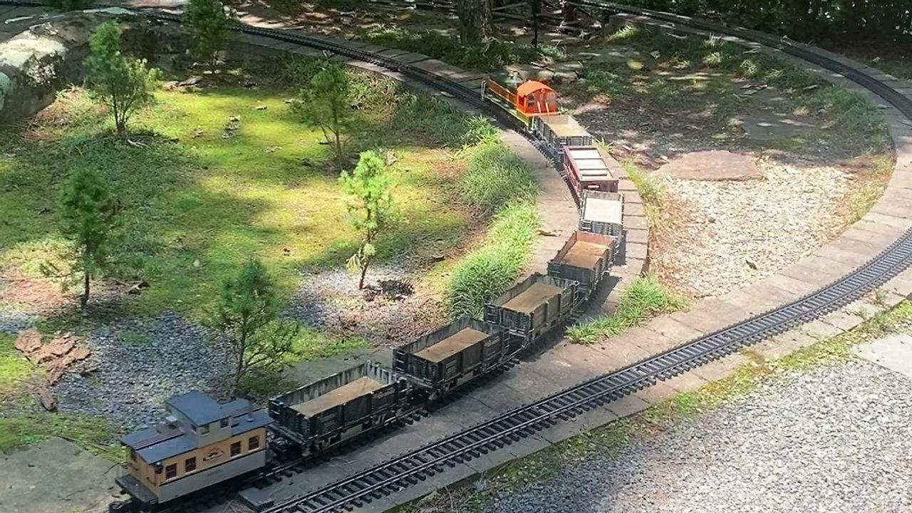Trains at Garban Woodlands