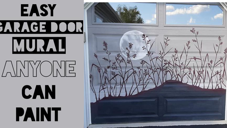 Easy Garage door mural
