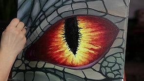 Painting a Dragon eye
