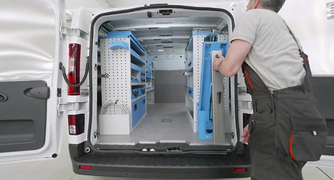 Syncro vice benches and work surfaces for vans, the Ultra system