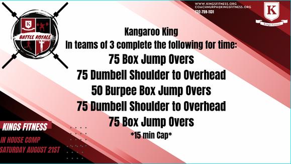 """WOD 1 """"Kangaroo King"""""""