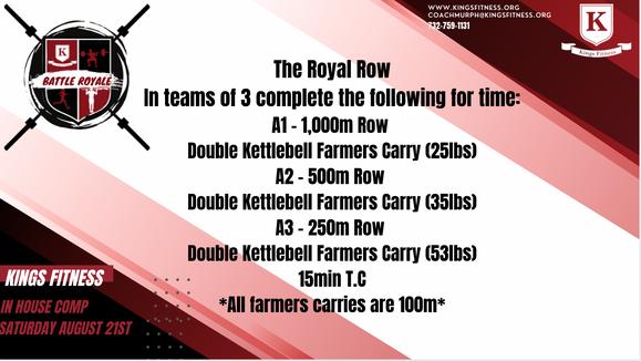 """WOD 2 """"The Royal Row"""""""