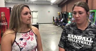 Press Pass Sports intern Corrin Davis speaks with Randall volleyball coach Haleigh Burns