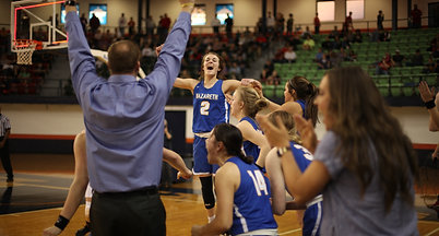 Nazareth coach Eric Schilling talks on his Swiftettes advancing to state