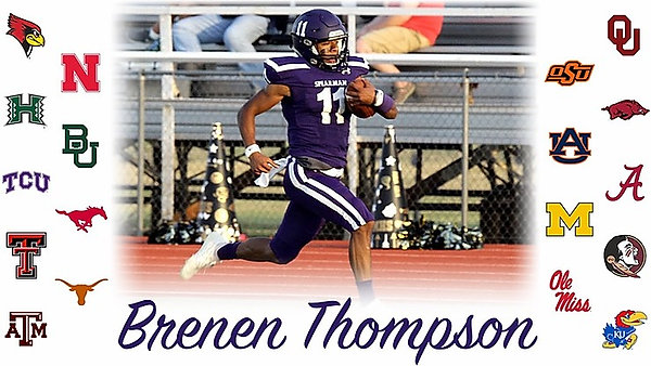 Spearman's Brenen Thompson talks on his fast track of college offers.