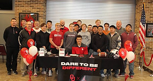 Gruver quarterback-wide receiver Jalin Conyers signs to play football at Oklahoma