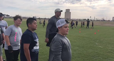 West Texas A&M head football coach Hunter Hughes host's summer youth camp