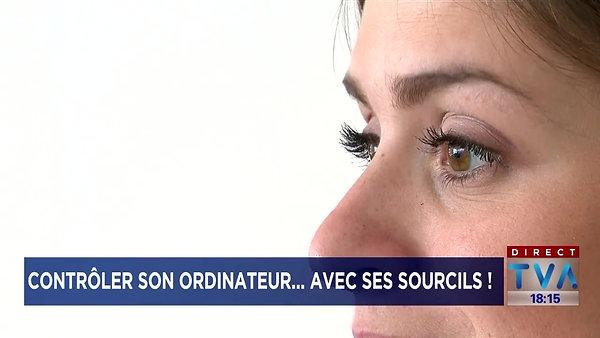 Travailler à l'ordinateur avec ses sourcils! TVA Nouvelles-3