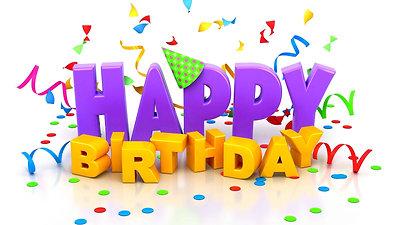 É nosso aniversário!