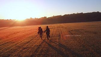 O Save the Date com o mais belo nascer do Sol em Holambra
