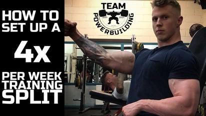 Set Up a 4x Per Week Training Split