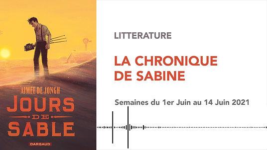 CHRONIQUE DE SABINE #39