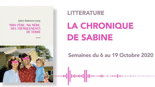 LA CHRONIQUE DE SABINE #32