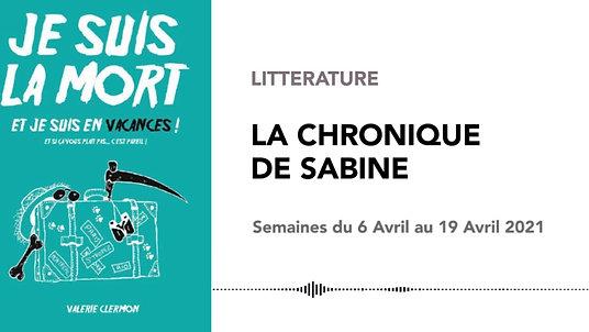 CHRONIQUE DE SABINE #35