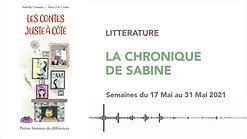 CHRONIQUE DE SABINE #38