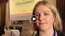Rosarii Mannion of HSE at HCA & Carer's Conference 2018