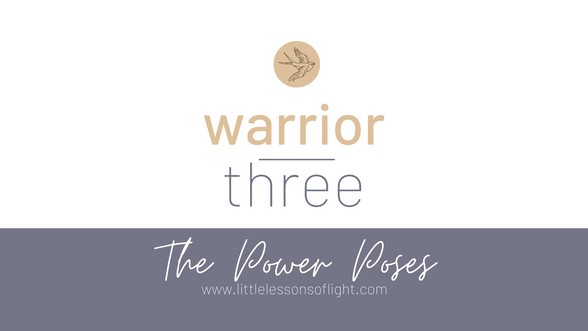 Warrior Three Tutorial with Kate. Taken from the Foundations in Yoga Series by www.littlelessonsoflight.com
