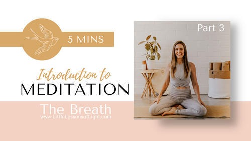 Introduction to meditation Pt.3 with Faye
