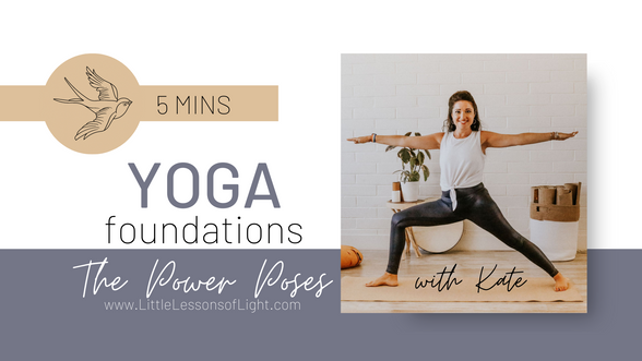 Foundations in Yoga Series. Tree Pose Tutorial with Kate by Little Lessons of Light
