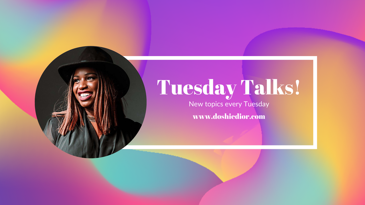 TRANSPARENCY TUESDAY TALKS WITH DOSHIE